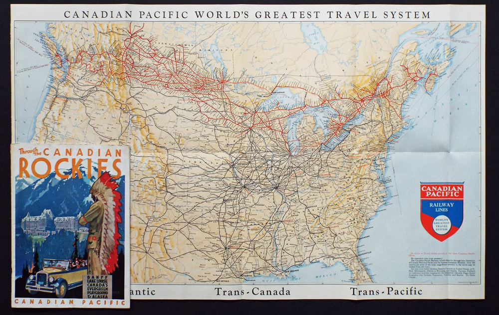 Map Of Canada Roads.Canadian Pacific World S Greatest Travel System Trans Atlantic