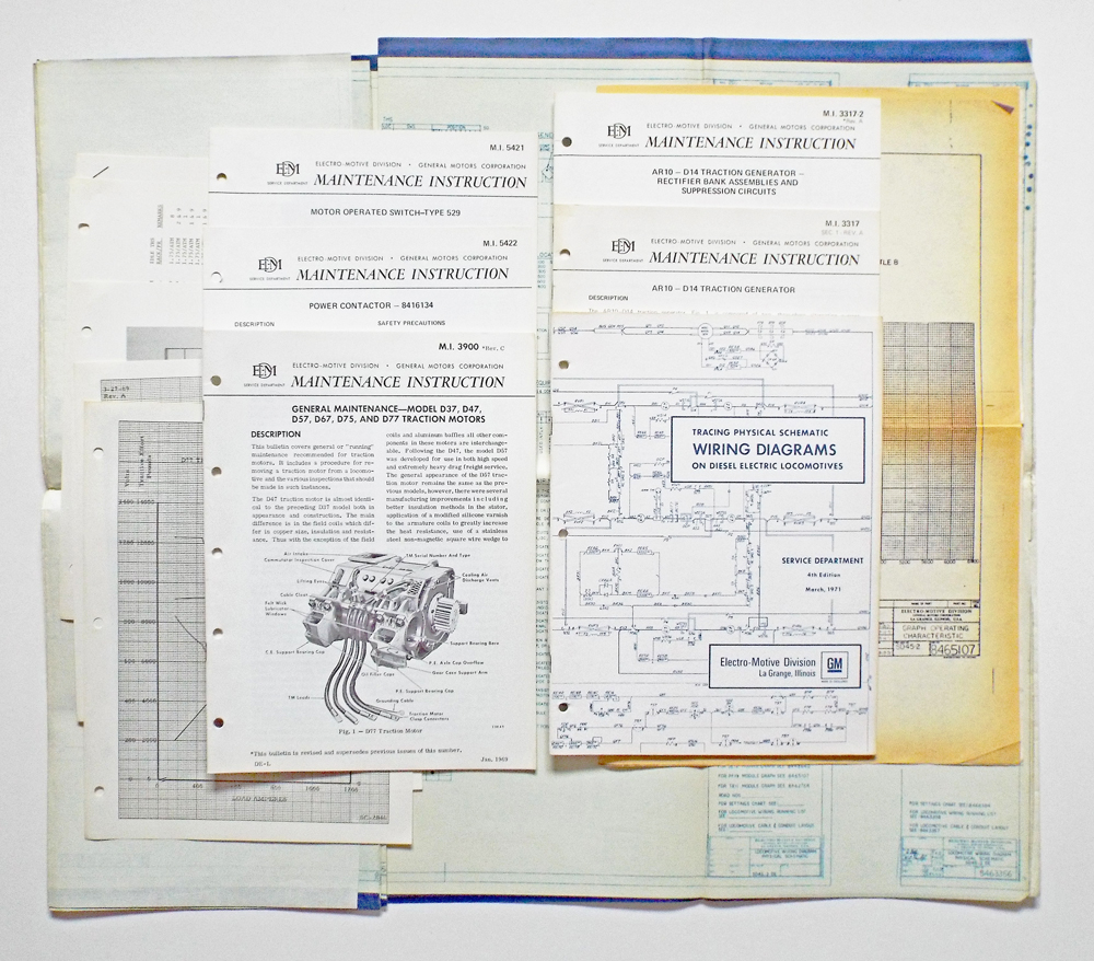 collection of locomotive schematic wiring diagrams, maintenance manuals and blue prints canadian pacific by electro motive division general motors  locomotive wiring diagrams #5