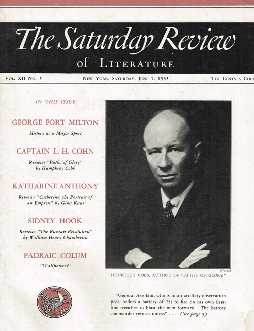 The Saturday Review of Literature - Saturday, June 1, 1935 Vol. XII No. 5. Henry Seidel Canby.