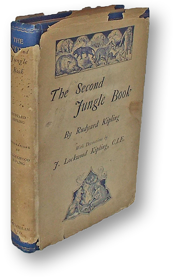 the second jungle book presentation copy w publishers bookmark