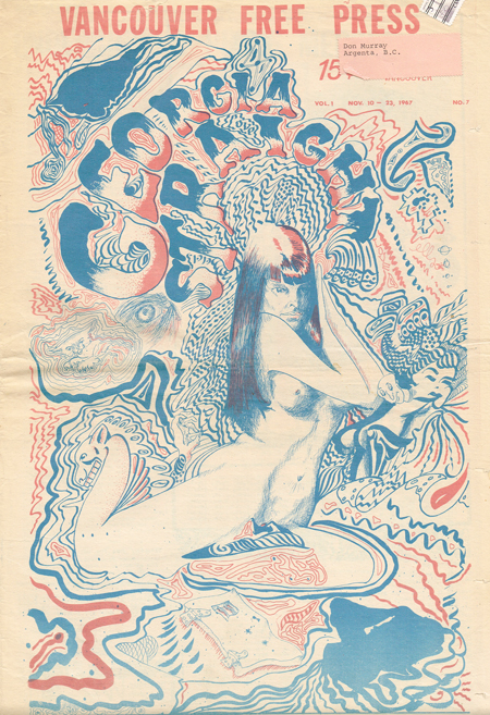 Georgia Straight, Vol. 1 No. 7, Nov. 10- 23, 1967. Vancouver Free Press (Mick Jagger, Psychedelic Graphics, Pentagon Protest, Underground Press). sp, Latremouille, Co-, Dan McLeod, Fred Latremo.