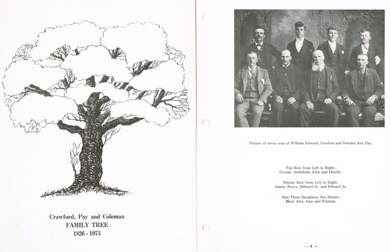 Crawford, Pay and Coleman Family Tree : 1826 - 1973 (Genealogy). Willian Herbert Crawford, Norman Earl Crawford, Assistant.
