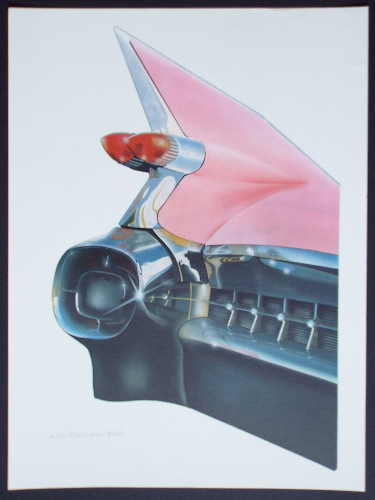 '59 Cadillac (Cleworth, Signed & Numbered Limited Edition Lithograph Print). Harold James Cleworth.