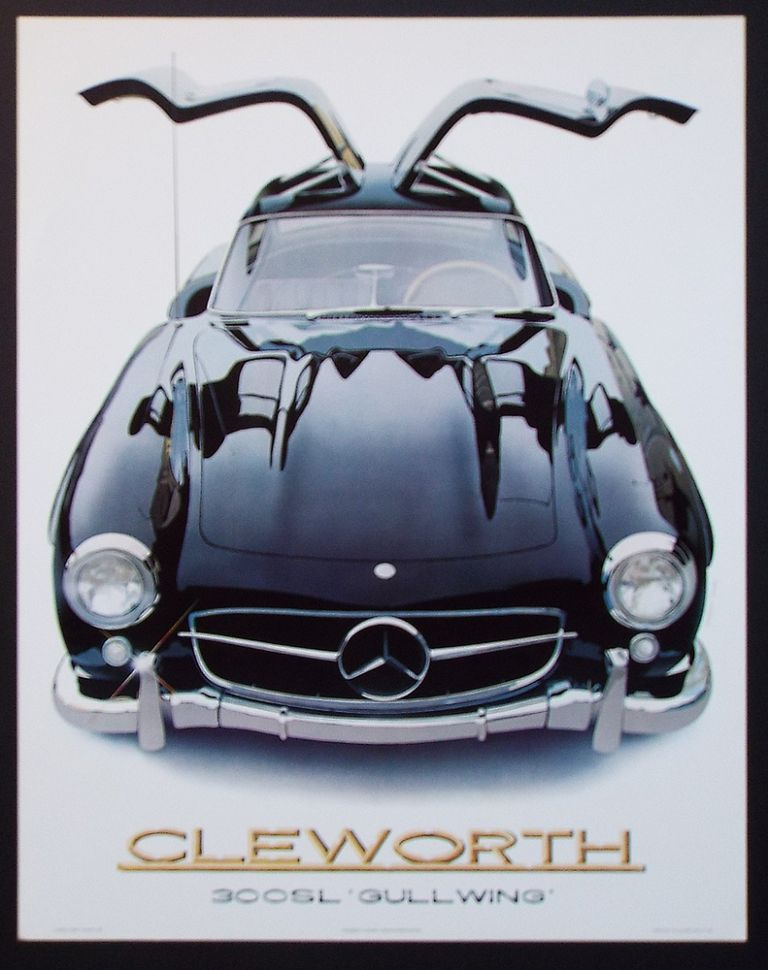 '55 Mercedes Benz 300 SL (Cleworth, Mercedes Gullwing Lithograph Print). Harold James Cleworth.