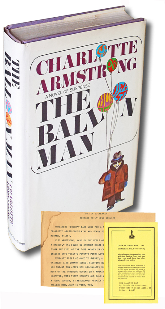 The Balloon Man (Review Copy). Charlotte Armstrong, Charlotte Armstrong Lewi.