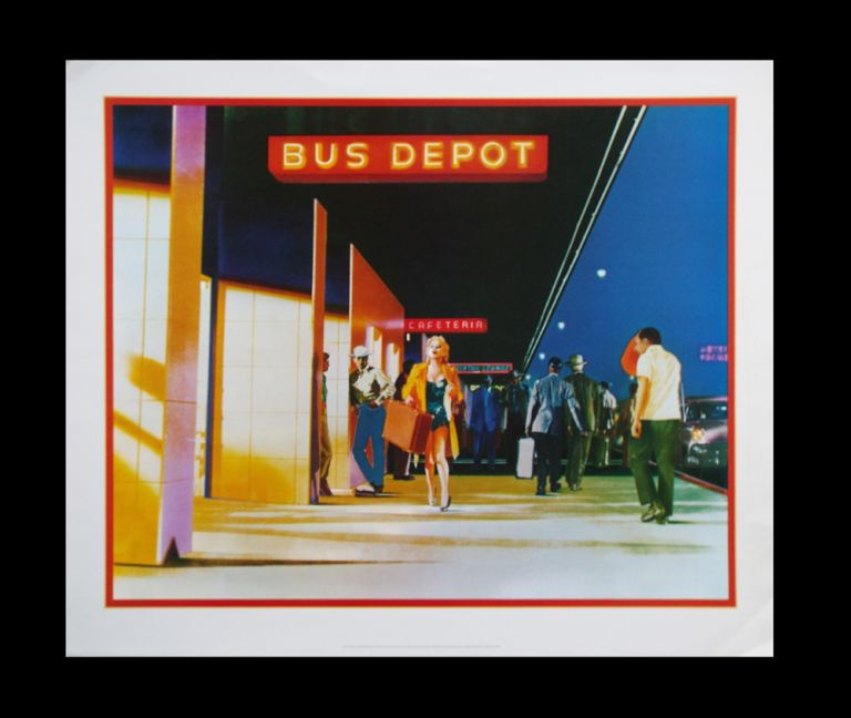 """Lithographic Poster of Marilyn Monroe in the Movie """"Bus Stop"""" Frans Evenhuis, Marty Schwartz."""