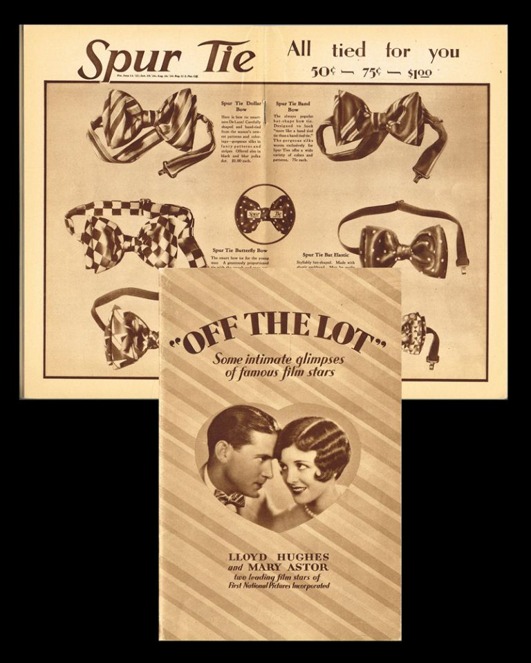 """Off the Lot"" - Some Intimate Glimpses of Famous Film Stars (Spur Tie, Photoplay). Hewes, Inc Potter."
