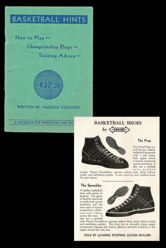 """Basketball Hints. How to Play - Championship Plays - Training Advice - 1937-38 : A Notebook for Instruction and Scouting. Oswald Tower, """"Famous Coaches"""""""