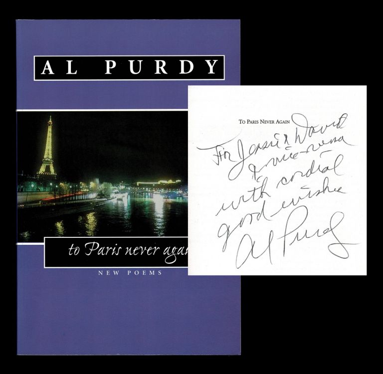to Paris Never Again : New Poems (Signed First Edition). Al Purdy, Sam Solecki.