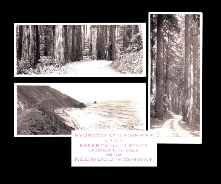 [California, Oregon] 3 Frank Patterson Panoramic Photographs of The Redwood Highway c. 1925. Frank Patterson.