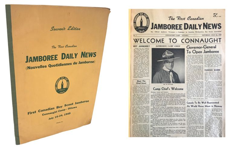 [Boy Scouts, Souvenir Edition] The First Canadian Jamboree Daily News. Nos. 1-7 July 16-24, 1949 at Connaught Camp - Ottawa. B. H. Mortlock.