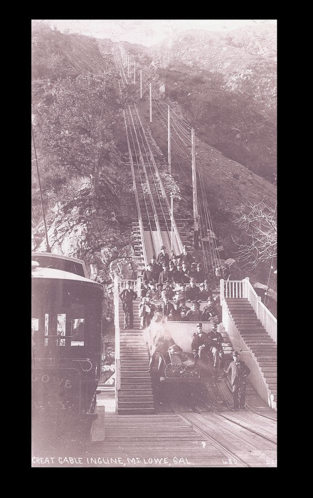 [California] Photograph of The Great Cable Incline, Mt. Lowe, California. Best, Co.
