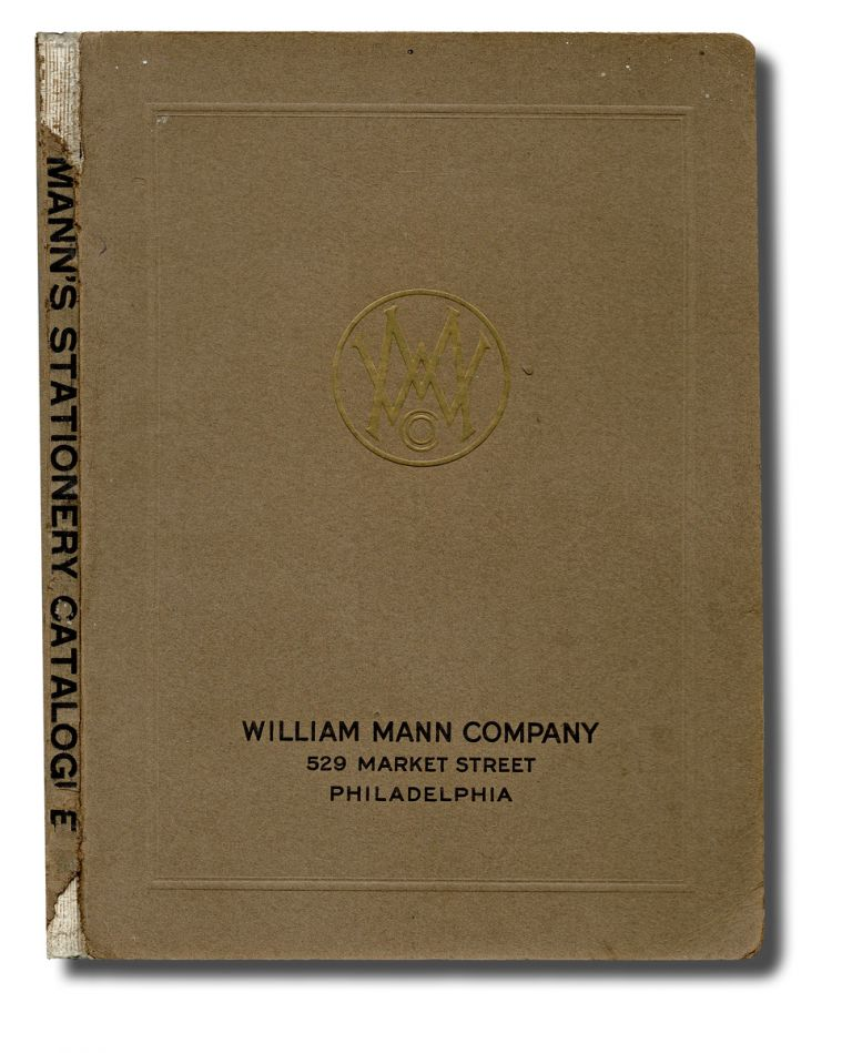 [Trade Catalogue, Penmanship] Mann's Commercial Stationary Catalogue : Bank and Office Stationary & Supplies. William Mann Company.