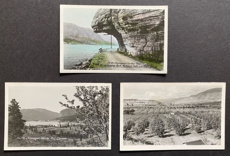 [Hand-Colored RPPC] 3 c. 1930's Real Photo Postcards of the South Okanagan & Oliver, B.C. Sutton Co. Ltd Gowen, Unknown Photographer.