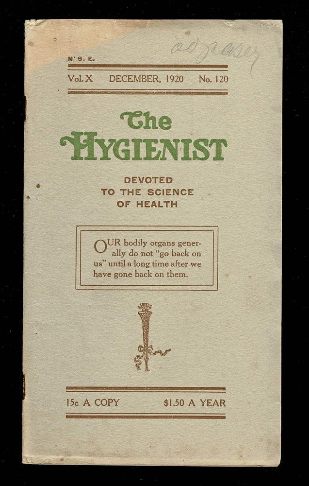 The Hygienist : Devoted to the Science of Health. Dec. 1920. R. R. Daniels.