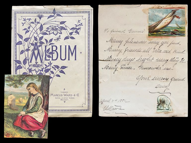 A Canadian Girl's 1880's Scrapbook of Poems, Sentiments and Chromolithograph Prints. Miss Emma Hews.
