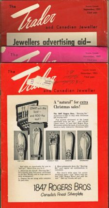 Rolex, Ronson] The Trader & Canadian Jeweller - Sept. Nov. & Dec. 1951. W. B. Forbes, H. P....