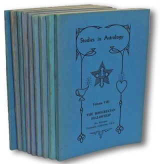 Studies in Astrology (Complete Set - Volumes 1-9) (Cosmology, Theosophy, Age of Aquarius, Rosicrucian Fellowship). Elman Bacher.