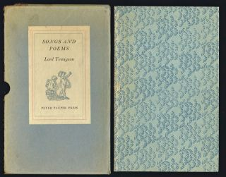 Songs and Poems (Fine Press). Lord Alfred Tennyson.