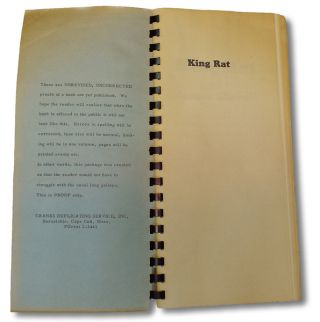 King Rat : Advance Uncorrected Proofs