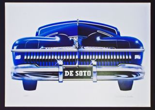 '42 De Soto (Cleworth, Signed & Numbered Limited Edition Lithograph Print). Harold James Cleworth.
