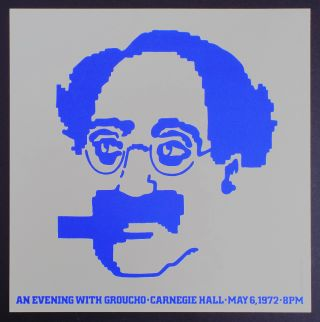 An Evening with Groucho - Carnegie Hall - 1972 (Marx Brothers, Vintage Poster). Glen Christensen.
