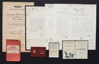 Collection of Early 20th Century Danish State Railway Documents & Ephemera (De Danske...