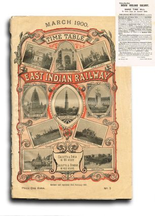 East Indian Railway. Time Table and Railway Guide for March 1900 (w. Fold-Out Maps & Plague...
