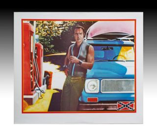 "Lithographic Poster of Burt Reynolds in the Movie ""Deliverance"" Frans Evenhuis, Marty Schwartz."