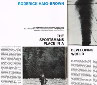 "BC Outdoors : Vol. 26 - No. 4, July/August 1970 (contains ""The Sportman's Place in a Developing World"" by R. Haig-Brown). Art Downs, Roderick Haig-Brown."