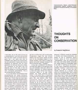 "BC Outdoors : Vol. 25 - No. 1, Jan./Feb. 1969 (contains ""Thoughts on Conservation"" by R. Haig-Brown). Art Downs, Roderick Haig-Brown."