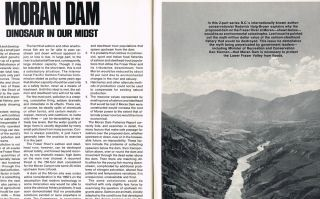 "BC Outdoors : Vol. 28 - No. 3, May/June 1972 (""Moran Dam : Dinosaur in Our Midst"" by R. Haig-Brown, Flooding, Dams, Hydro Electricity). Art Downs, Roderick Haig-Brown."