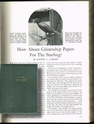 "Rachel Carson] ""How About Citizenship Papers for the Starlings?"" Rachel Carson"