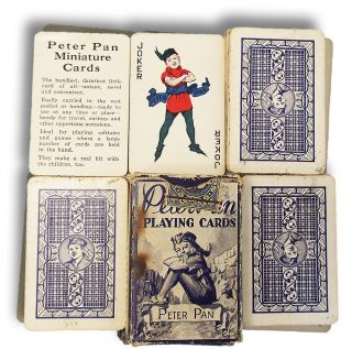 Peter Pan Minature Playing Cards