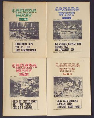 Canada West Magazine. 1971, Vol. 3 No. 1 - 4 Complete (Yukon, Greenwood, Gold, B.X. Line, Yale,...