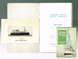 "The Canadian Pacific Ocean Services R.M.S. ""Metagama"" First Class Passenger List : Liverpool for..."