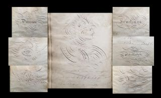 "19th Century Manuscript Math Exercise Book (Penmanship, Historical Pedagogy). R. Ford, ""Script"""