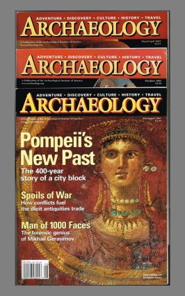 Archaeology Magazine. Vol 56 No 1, 2, 3 & 4 : Jan - August 2003 - 4 issues. Peter A. Young,...