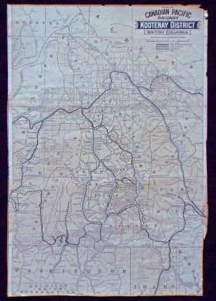 Map of Canadian Pacific Railway Kootenay District British Columbia (Gold Mining). Canadian...