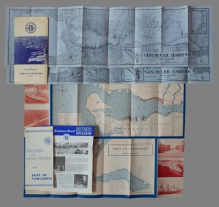 Port of Vancouver Promotional Brochure with Harbour Maps. National Harbours Board Canada