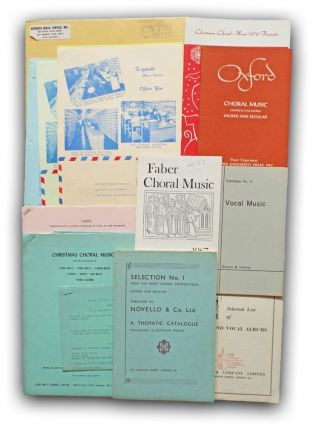 Collection of 13 Music Publisher / Seller Catalogues