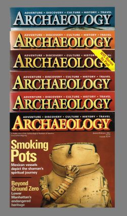 Archaeology Magazine. Vol 55 No 1-6 : Jan-Dec 2002 - 6 issues complete