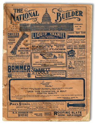 The National Builder. Feb. 15th, 1907 - Vol. XLIV No. 2 (Trade Magazine).