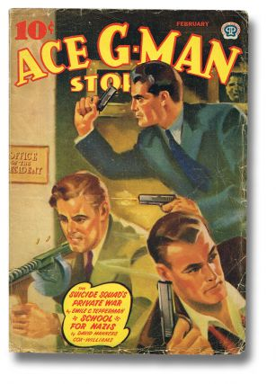 ACE G-MAN STORIES - Vol. 8 No. 5 - Feb. 1942 (The Suicide Squad's Private War ; The Other Voice ;...