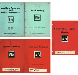 Five Locomotive Service and Maintenance Manuals (Canadian Pacific). Ltd Montreal Locomotive Works