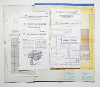 Collection of Locomotive Schematic Wiring Diagrams, Maintenance Manuals and Blue Prints (EMD...