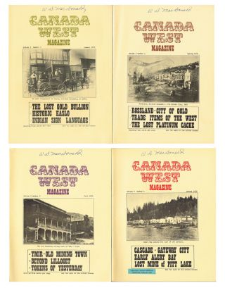 Canada West Magazine : Vol. 2 No. 1, 2, 3, 4 - Spring, Summer, Fall, Winter 1970 (Rossland, Kaslo, Ymir, Cascade, Alert Bay). N. L. Barlee, Bill -.