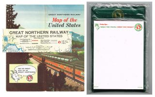 Great Northern Railway Map of the United States * together with * Great Northern Railway...
