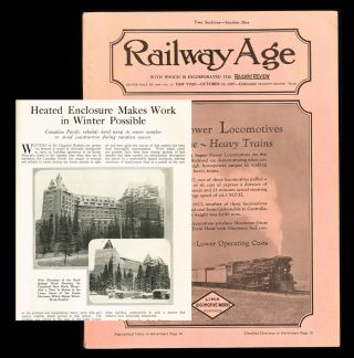 Railway Age. Vol. 83 No. 17 - Oct. 22, 1927 (CPR, Banff Springs Hotel). Samuel O. Dunn