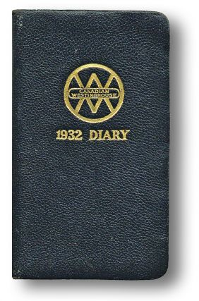 Canadian Westinghouse 1932 Diary (Trains, Railways). Canadian Westinghouse